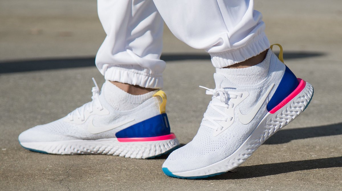 nike epic react flyknit white