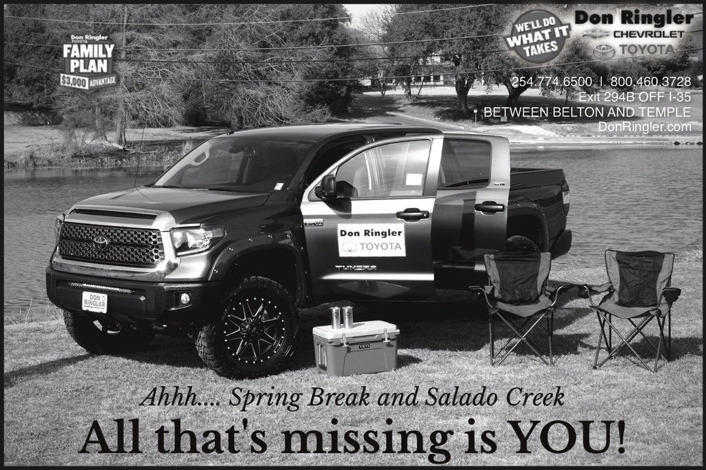 Don Ringler Toyota On Twitter Look At Our Awesome Ad In The Salado Creek Living Magazine Are You Ready For Springbreak2018