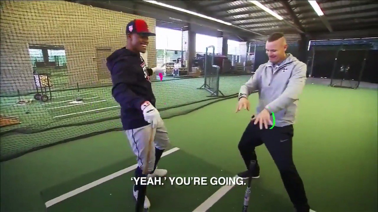 .@Lindor12BC's to-do list during #SpringTraining: (1) fine-tune his swing, (2) dance it out. https://t.co/3FeIdZJXop