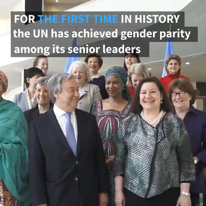 Gender parity in the United Nations Senior Management Group is just the beginning. Our goal – and my commitment - is to achieve gender parity at all levels.
