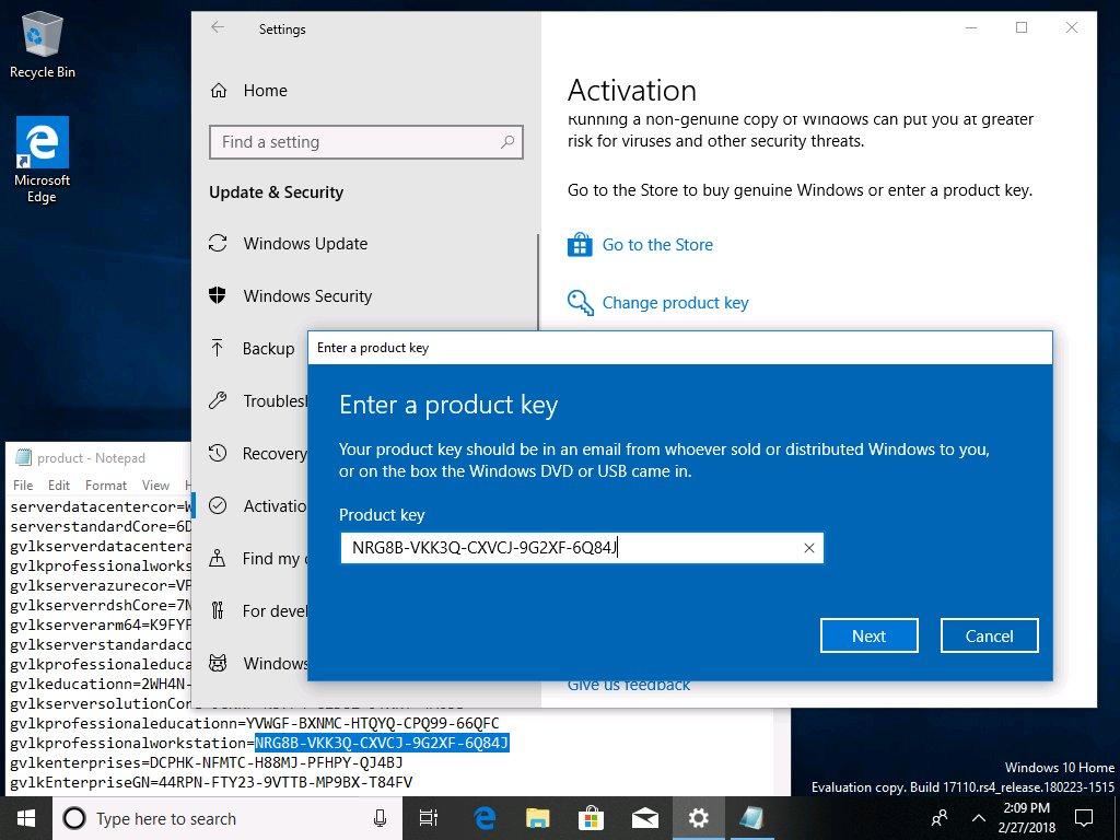 Win 10 1803 kms key | Free Windows 10 Product Key 2019 100% Working