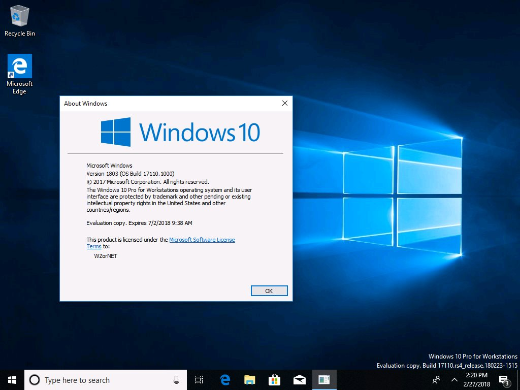kms activation windows 10 1803