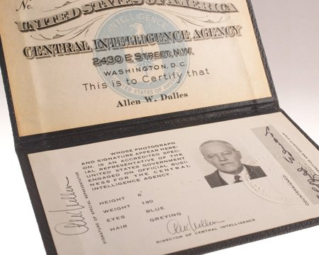 CIA #Museum Artifact of the Week: Identification Card of Allen W. Dulles  https://t.co/0jAEMhmyCG