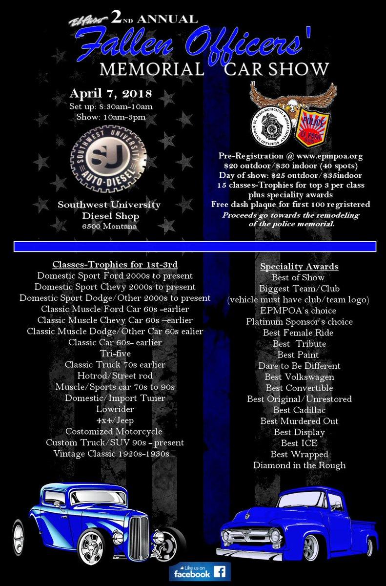 EP Fallen Officers Nd Annual Car Show - Car show dash plaque display