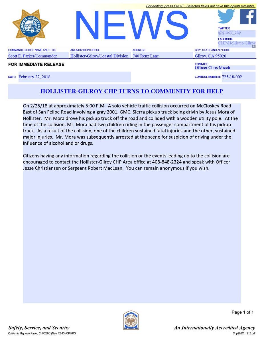 chp incident report pdf