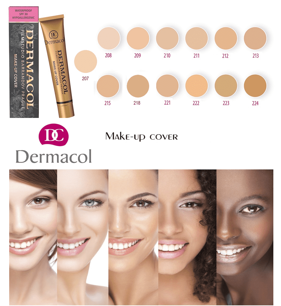 Dermacol Make Up Cover BENEFITS : Waterproof Hypoallergenic For all skin types SPF 30 Preservative Only 9.8$/box:https://www.dermacolfoundation.us.com ...