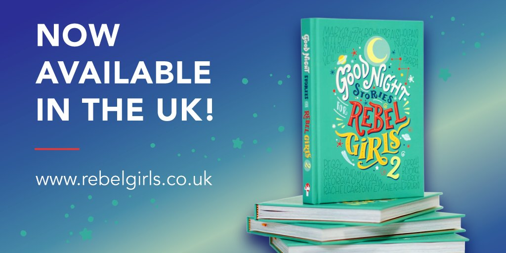 UK Rebels! 🇬🇧Good Night Stories for Rebel Girls 2, the sequel you and your family have been waiting for is now here!  Click link in bio to order your copy👆🏼rebelgirls.co.uk #rebelgirls #rebelgirls2 #uk #launchday
