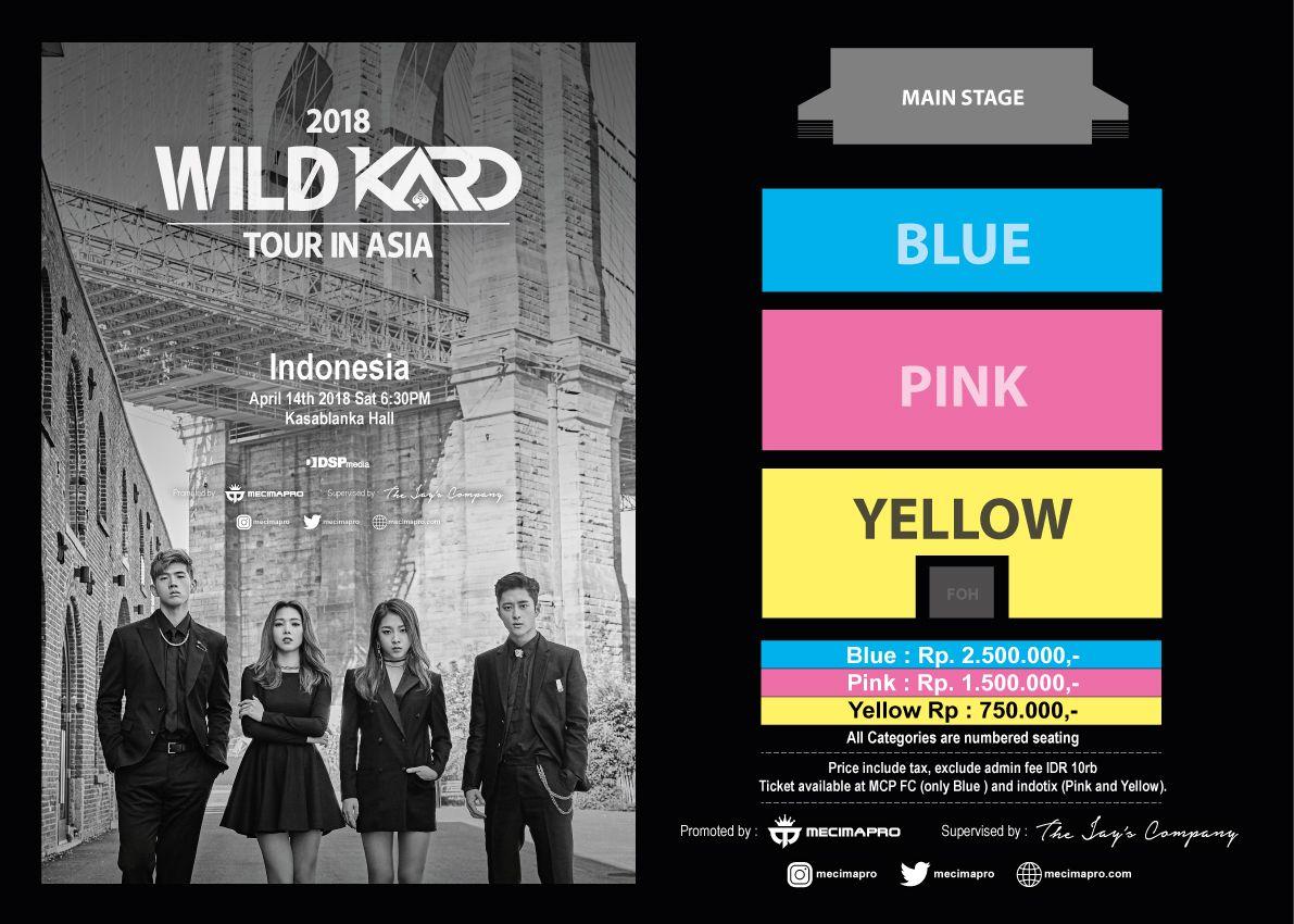 2018 WILD KARD Tour in Jakarta April 2018 event korea di jakarta saungkorea.com