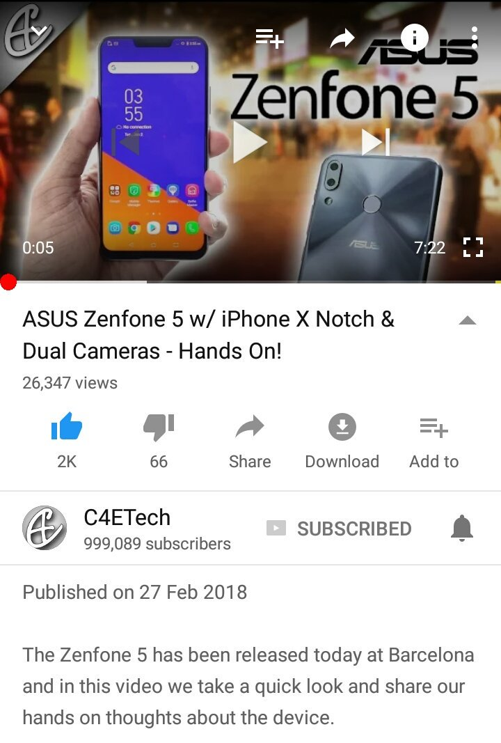 C4etech on twitter asus zenfone 5 w iphone x notch dual cameras 0 replies 0 retweets 2 likes ccuart Choice Image