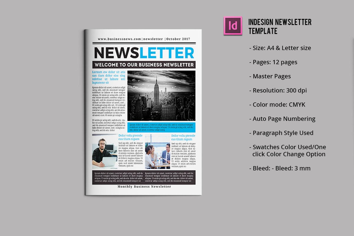 Sistec On Twitter Business Newsletter Template 12 Pages