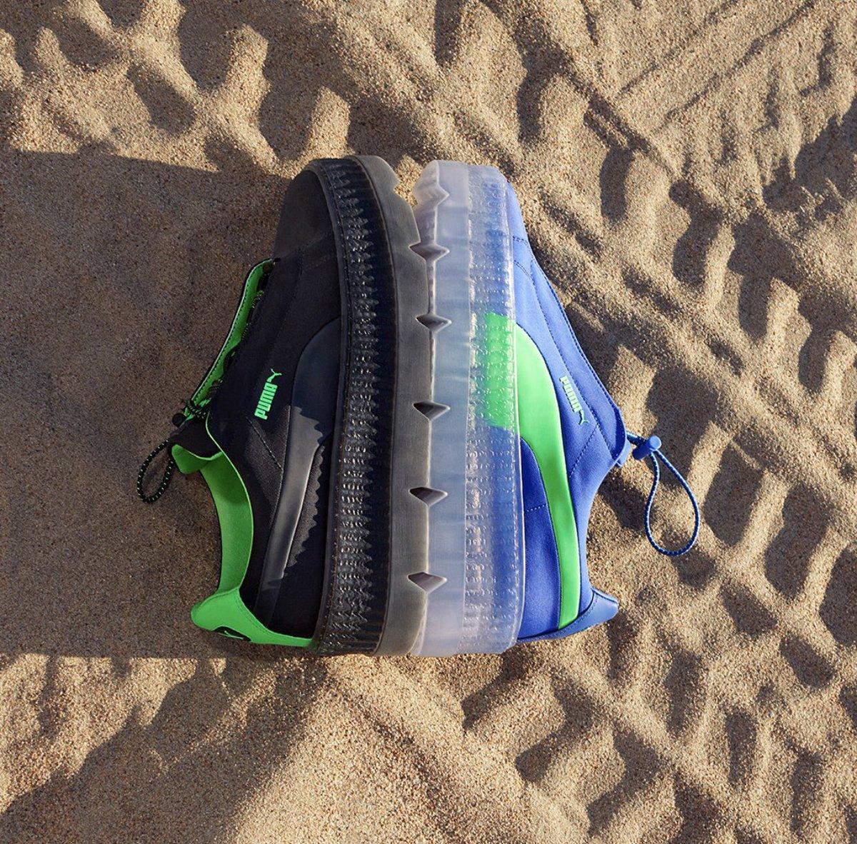 e4f159ca98af63  3 16 released  PUMA CLEATED CREEPER SURF WNS DAZZLING BLUE BLACK GREEN  GECKO ¥18