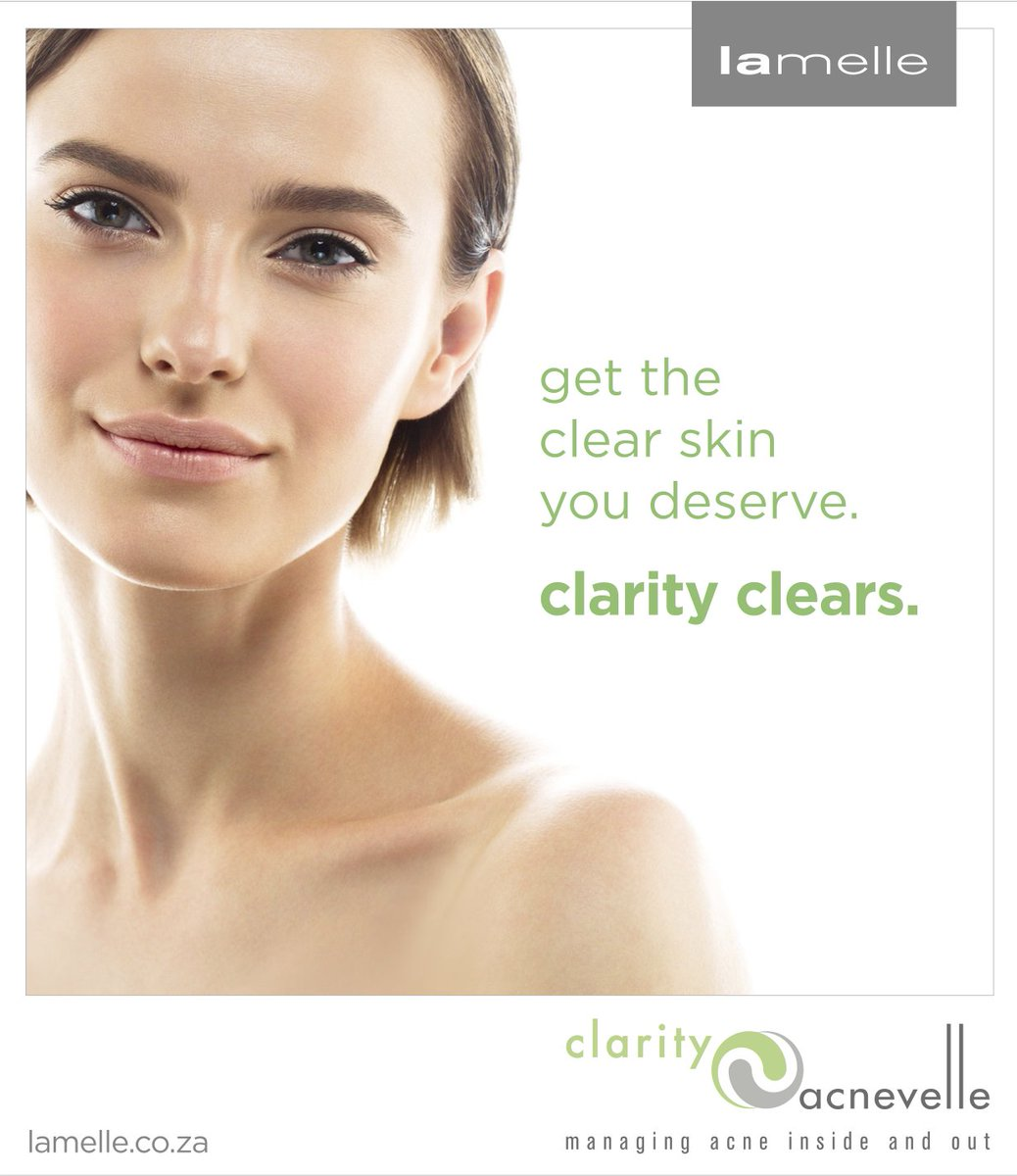 Get the clear skin you deserve with Clarity. #ClarityClears