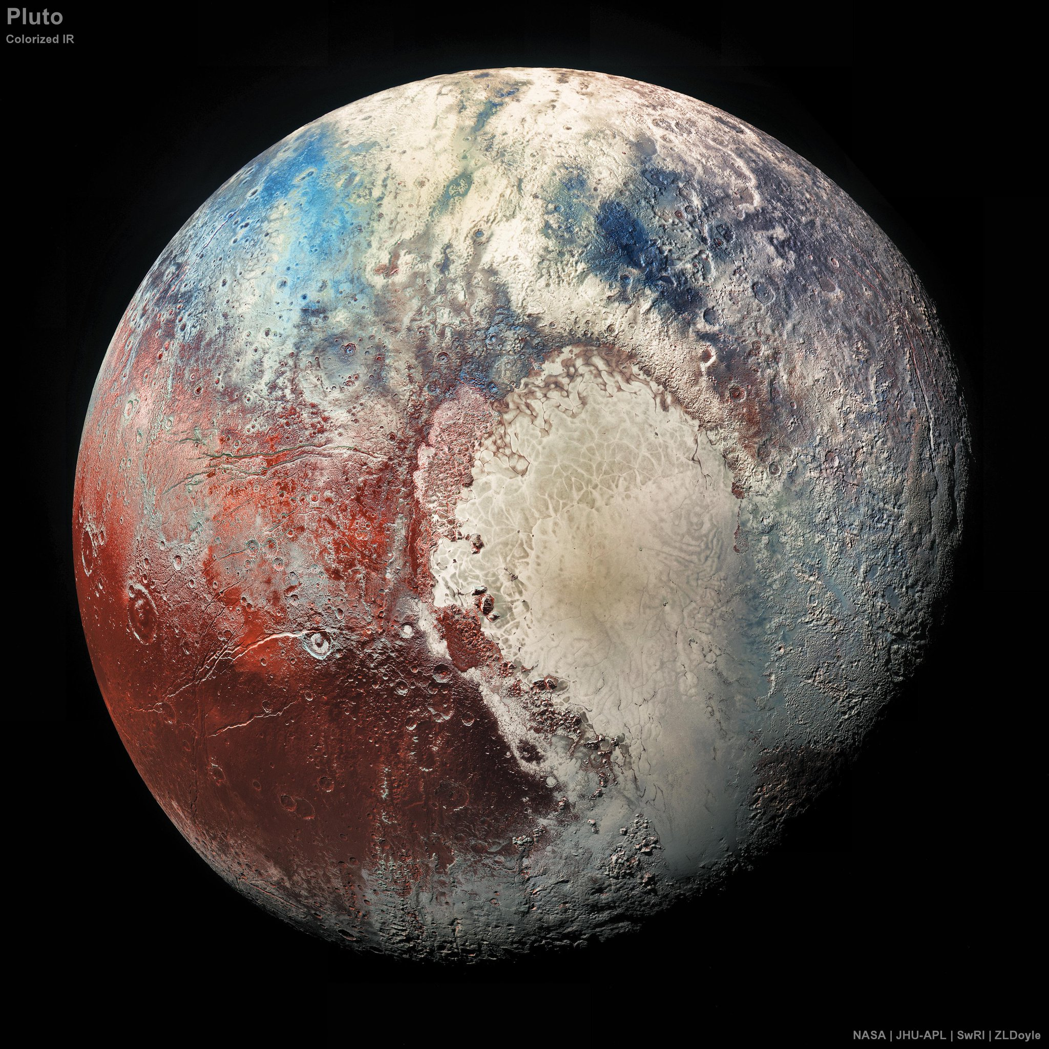 Newest & Clearest photo of Pluto https://t.co/bhlpeMYTHc