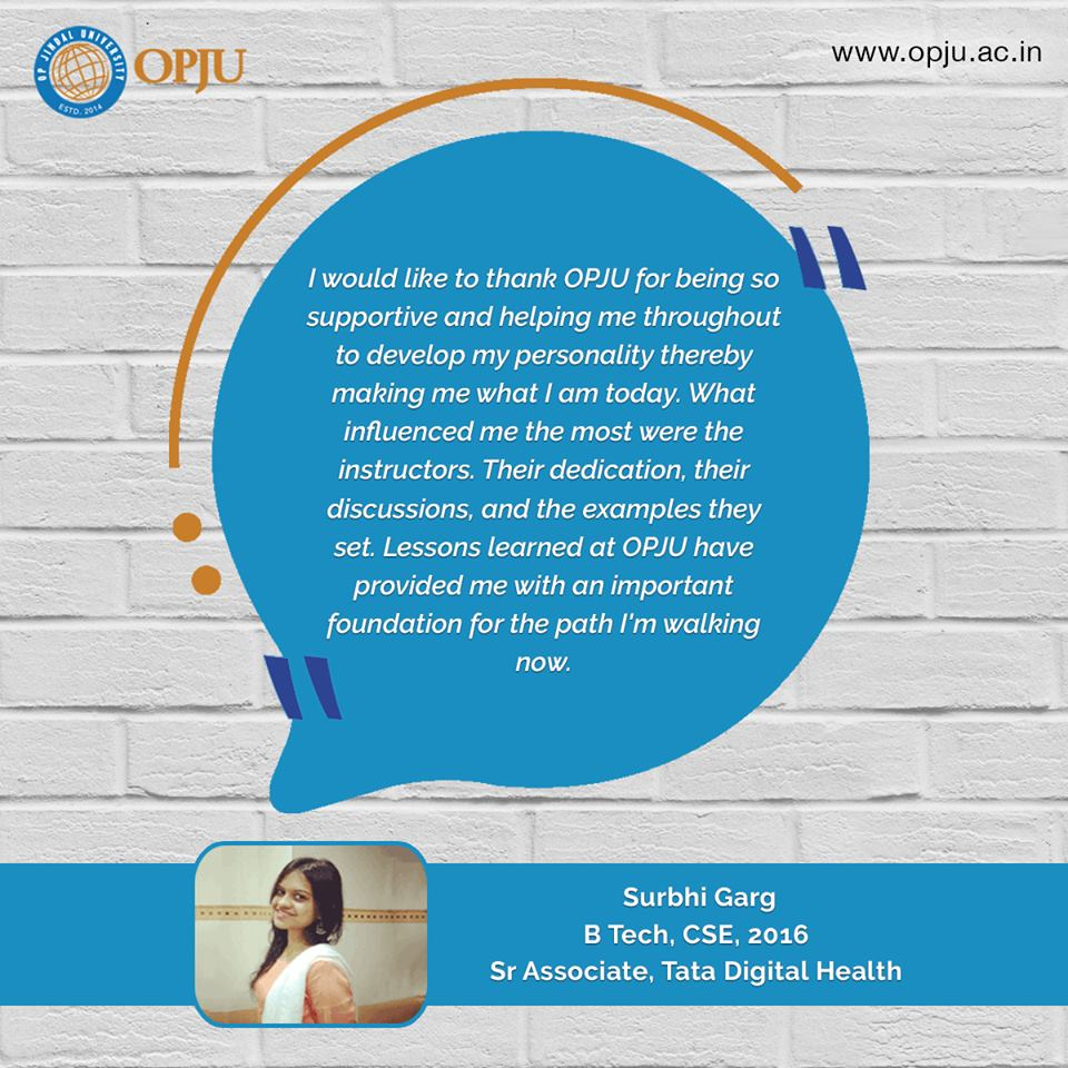 Experience the academic excellence at OP Jindal University.  #OPJU #StudentFeedback #Raigarh<br>http://pic.twitter.com/A8jDtfxdPS