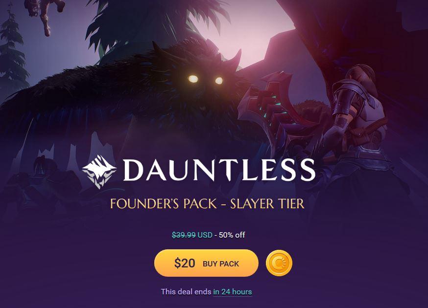 dauntless founders packs