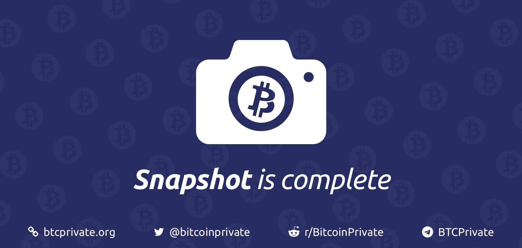 Snapshot is complete for Bitcoin Private BTCP ZCL BTC HardFork
