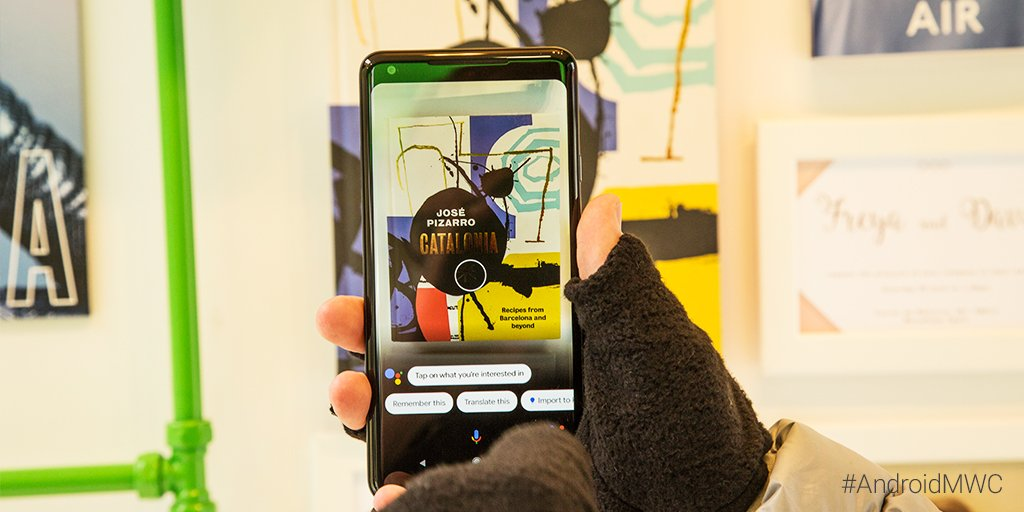 There's lots to be explored at the Exploration Centre. Take a picture with Google Lens and information will pop up on your phone. #AndroidMWC