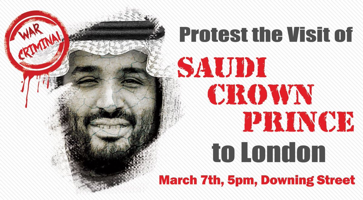 Image result for mohammed bin salman visit to uk protest
