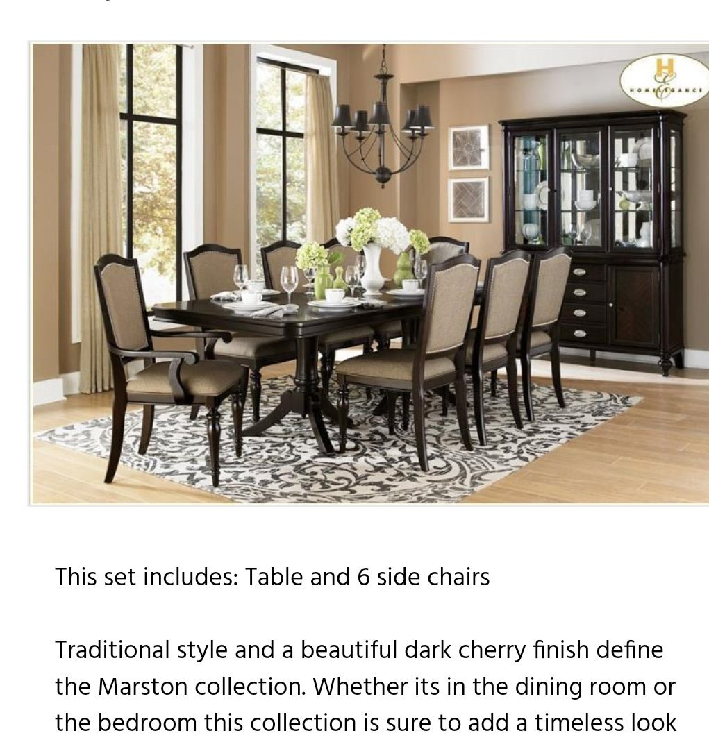 Dear @SecretaryCarson: If you refuse to use Unicor federal prison industries for your office, there are still lots of dining tables less than $31,000. This table from Marlow has an elegant dark cherry finish. Its on sale for $1,179. And they deliver to DC. #wednesdaywisdom