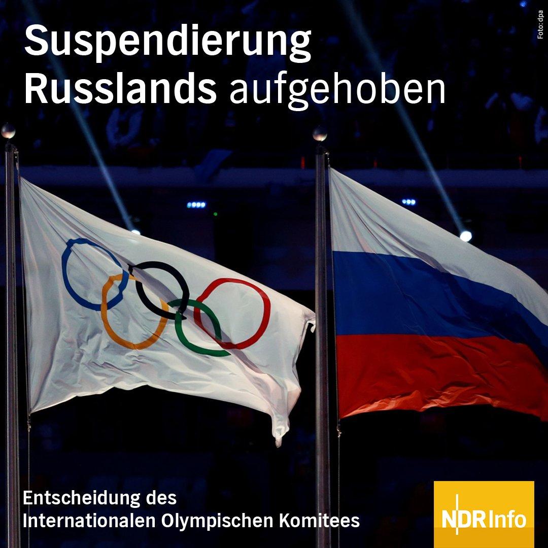 Das Internationale Olympische Komitee #IOC hat die Sanktionen gegen Russland aufgehoben.