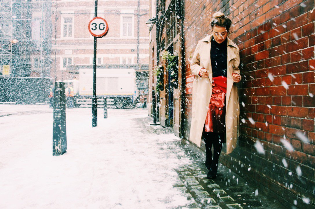 Come rain or snow brighten up with the vibrant @LucieShorthouse in ENLIST SS18 #snow #fashion #style #theatre #stylish #womanswear #SS18 https://t.co/641aGfsRIa