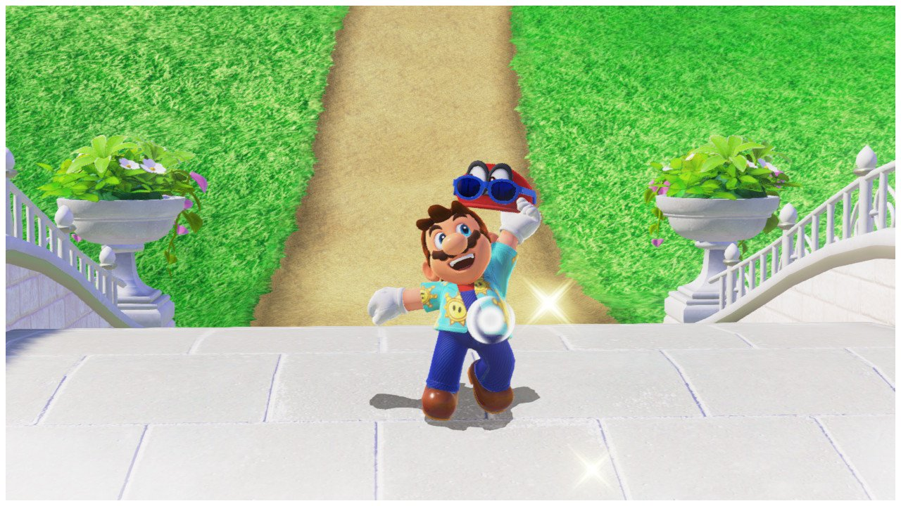Luigi's Balloon World - Mario wearing Sunshine Outfit