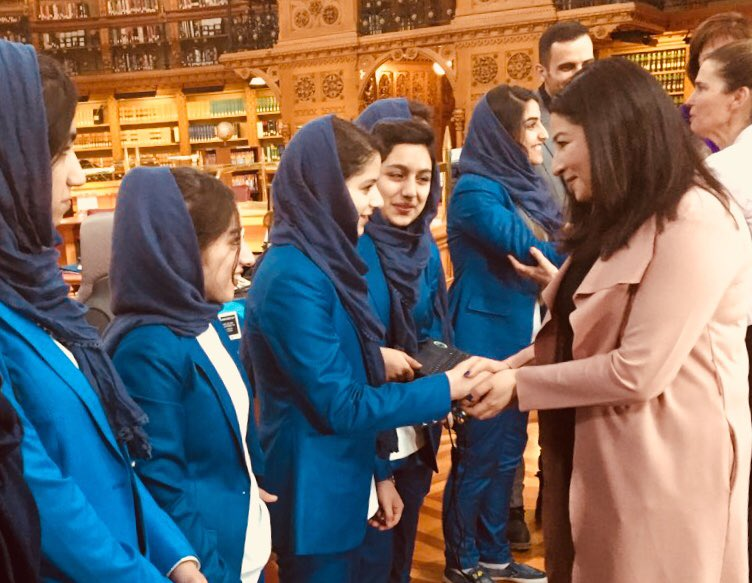 These girls, the Afghan dreamers, prove that anything is possible with access to education and the right kinds of support. I was honoured to meet them all. #ChooseScience #WomenInSTEM