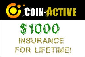 Image for COIN ACTIVE has added Golden Insurance !