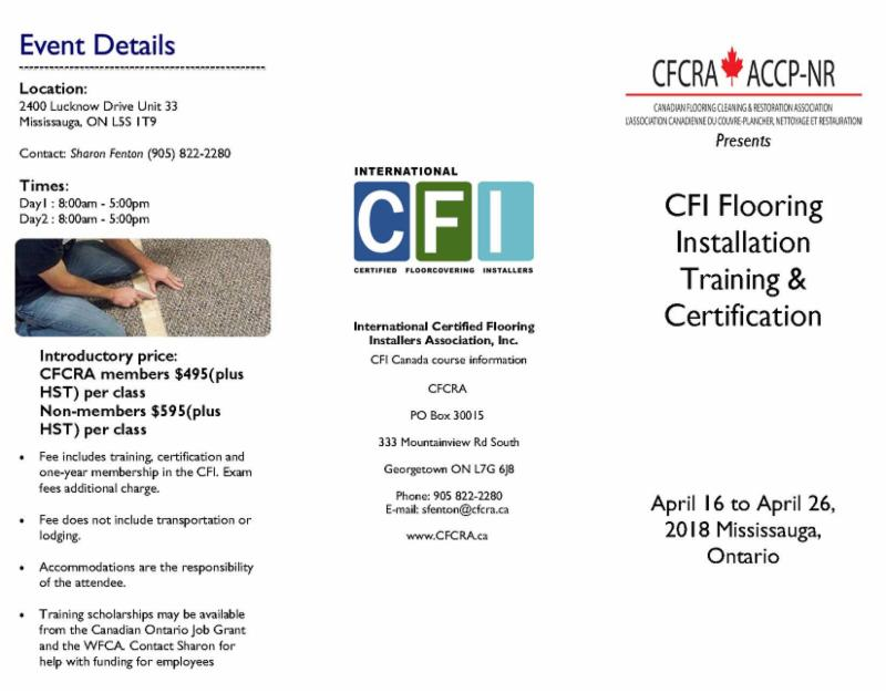 The Cfcra On Twitter Cfi Certified Flooring Installers Association