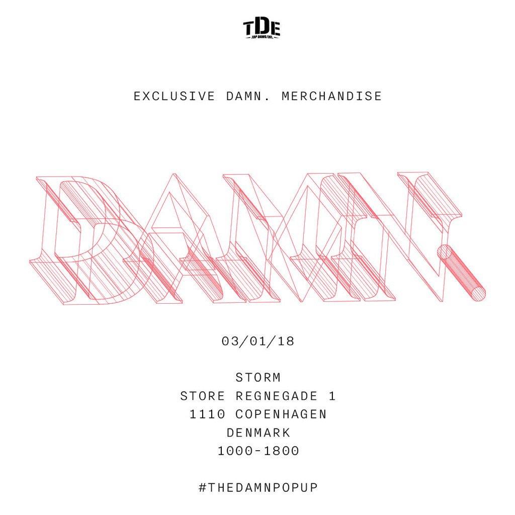 .#THEDAMNPOPUP - 01/03/18  COPENHAGEN, DENMARK   [#Damntour + #KendrickLamar + #TDE]