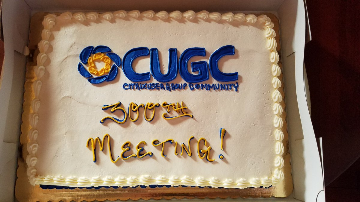 Greg Tiber On Twitter The Cake For The 300th Mycugc Meeting In