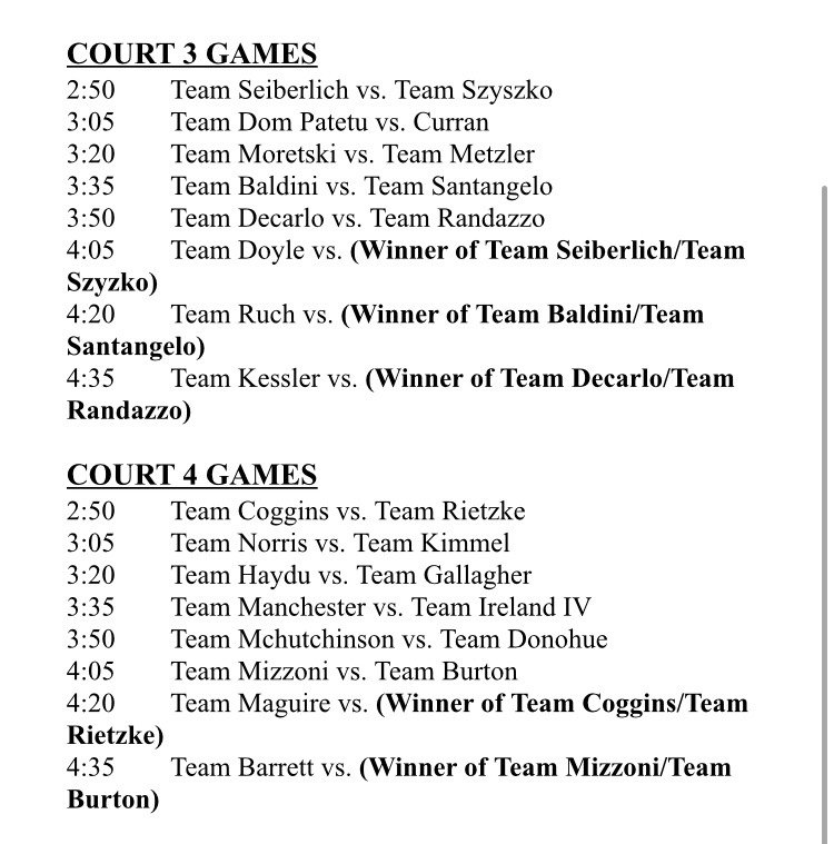 The Thursday 3v3 Basketball Tournament Schedule Is In Here Are Brackets For Each Court 3v3pictwitter 6aiXdIN32h