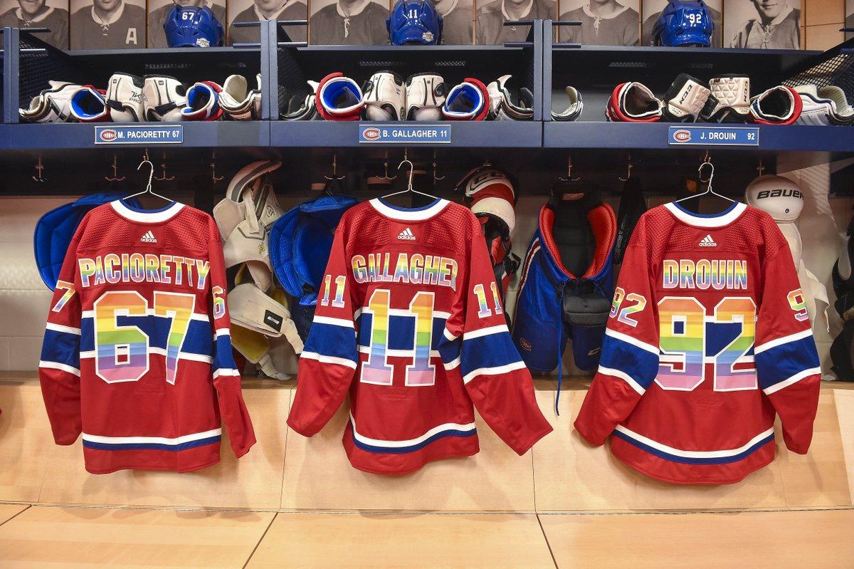 Canadiens Montreal On Twitter Les Chandails Arc En Ciel Portes Par Les Joueurs Lors De La Periode D Echauffement Seront Signes Et Mis A L Encan Au Profit De You Can Play Et Gris Montreal Https T Co W1ozmrdx0e