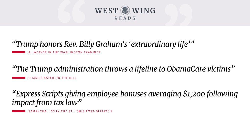 Check out tonight's West Wing Reads: https://t.co/SPlHy4YoyJ https://t.co/UfUba1tiOk