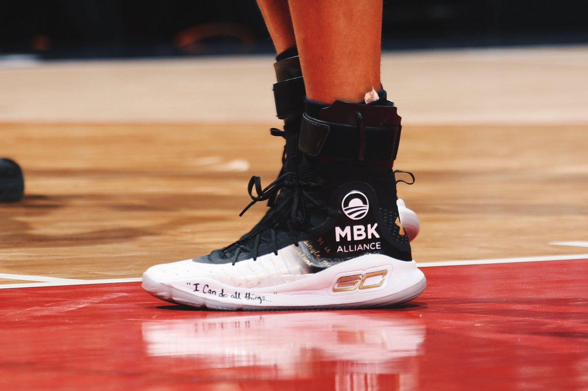 official photos 51b10 efcd3 steph curry wearing the custom under armour curry 4 tonight at washington  in support of s