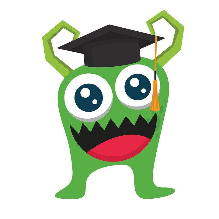 """Kidaha on Twitter: """"Funny monsters go school 😁 #monster # ..."""