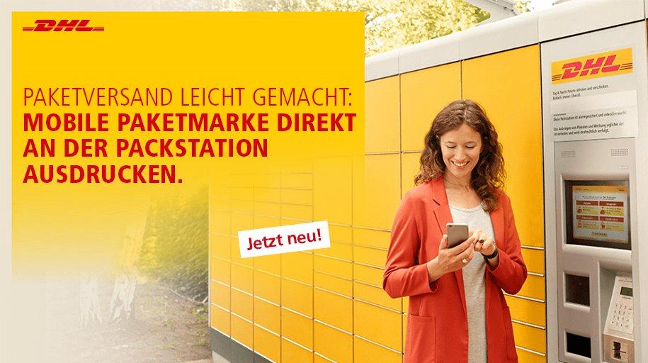 Dhl Paket On Twitter Drucken Sie Ihre Mobile Paketmarke Jetzt