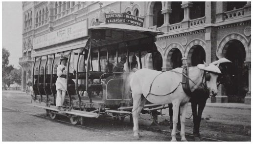 Image result for HORSE DRAWN TRAM IN COLABA