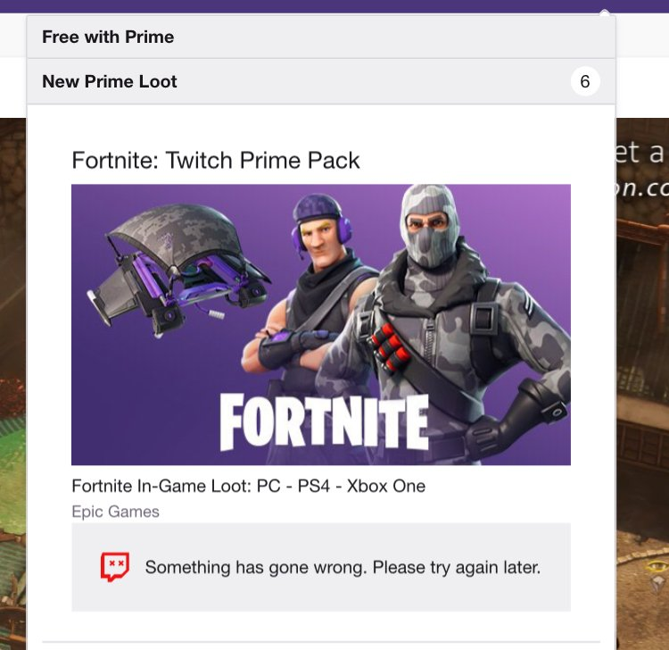 epic games twitch prime skins
