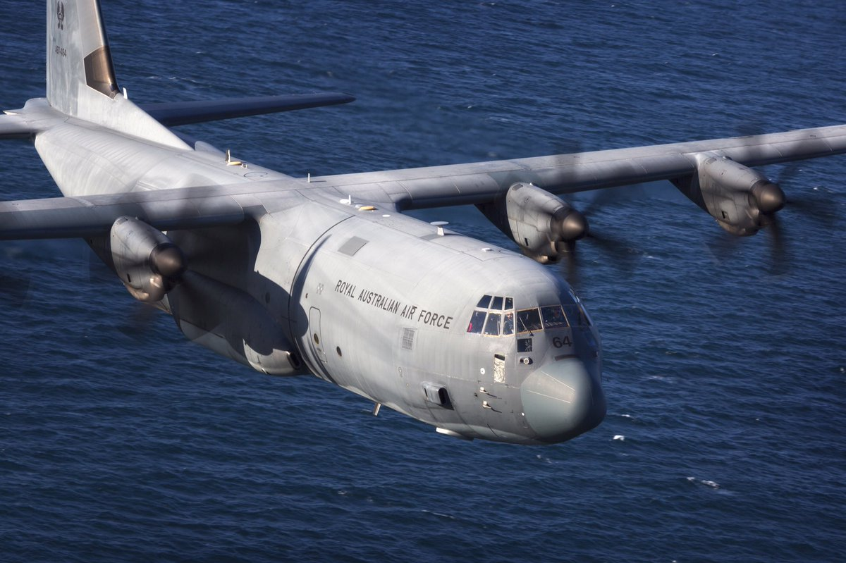 #YourADF C130s are assisting with aerial surveillance & logistic support in #PNG after this week's earthquake