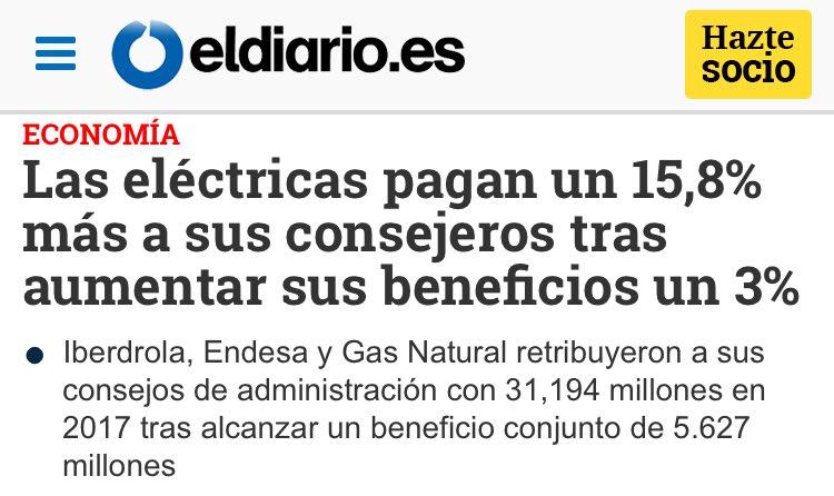 Mientras tanto muchas familias con cortes de luz y POBREZA ENERGÉTICA.   Los amigos de Rivera y Ciudadanos 👇 http://www.eldiario.es/economia/electricas-pagan-consejeros-aumentar-beneficios_0_745076473.html…