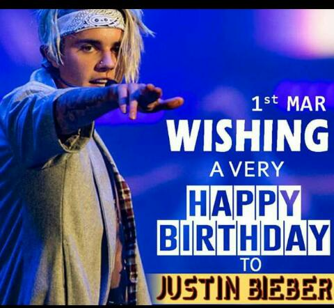 Many many returns of the day happy birthday to you Justin Bieber  I love you bro