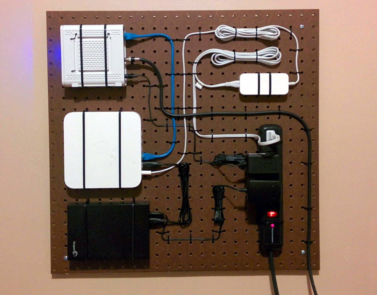 Mnpctech On Twitter Great Use Of Pegboard For Home Network New Wiring Design Patricknorton Cables Datacenter Datacenters Cableporn Technology Tech Cloud Data