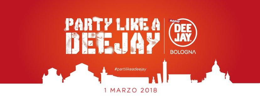 Questa sera #PartyLikeADeejay @ Unipol Arena Porte h 18:00 Inizio evento h 21:00 ** biglietti non disponibili in cassa ** Info | the-base.it/js…/radio-deejay-party-like-a-deejay/