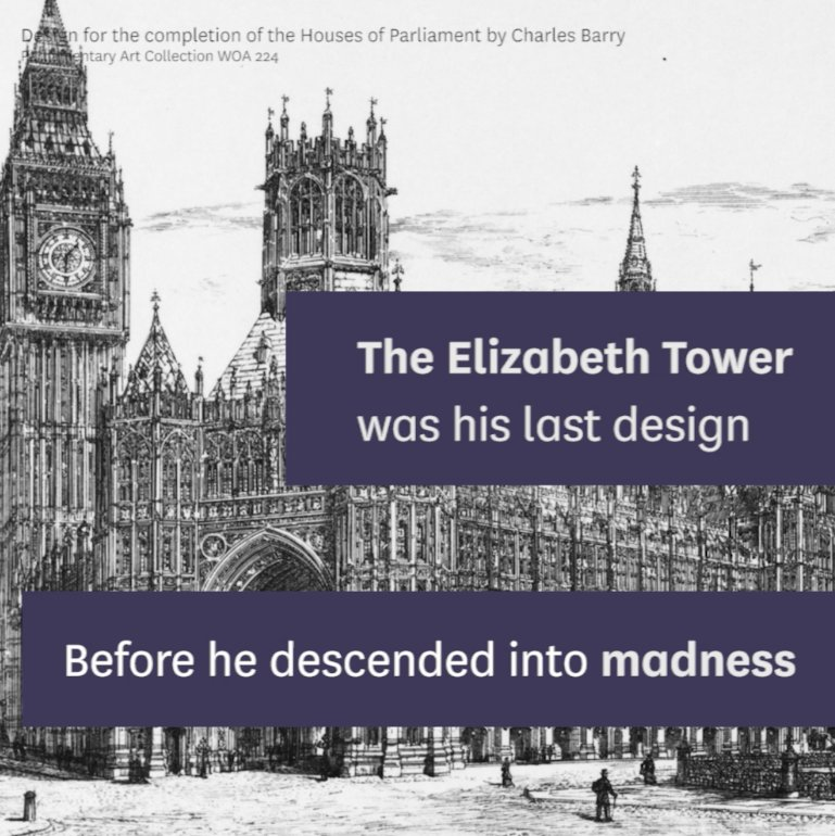 #OTD in 1812, Augustus Pugin was born. He designed the interior of the Palace of Westminster and its iconic clock tower - later renamed the Elizabeth Tower, which houses the bell known as #BigBen.