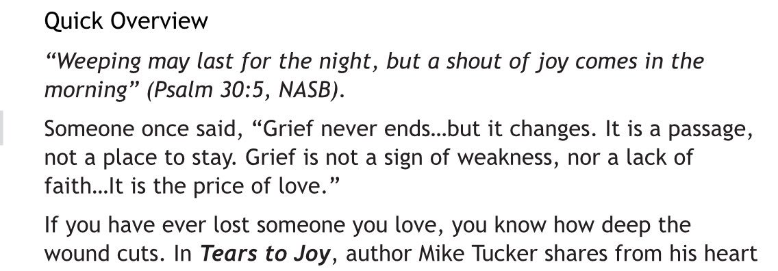 Tx Abc On Twitter The Quote About Grief Wow From Tears To Joy