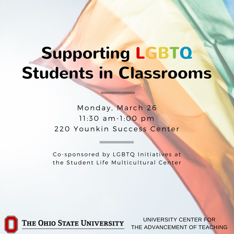 Our role as instructors includes creating inclusive environments where all students learn and engage. How do we ensure this for our LGBTQ students? What do we do when controversial topics arise? Learn strategies from LGBTQ Initiatives at SLMC 3/26 11:30-1. https://t.co/CLGGt7qY3h