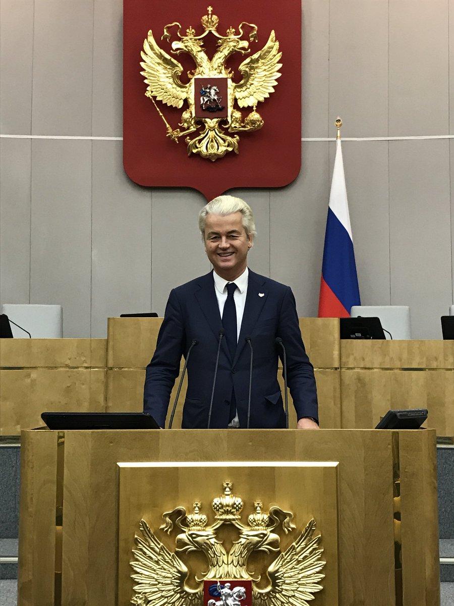 Znalezione obrazy dla zapytania geert wilders russia