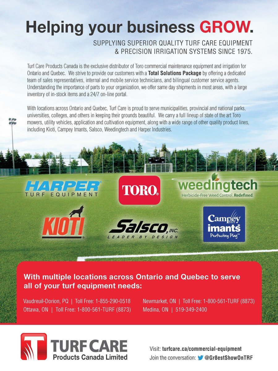 Turf Care Products On Twitter Proud To Support The Ontario Parks Association 62nd Annual Education Forum OPA Training 62EduForum