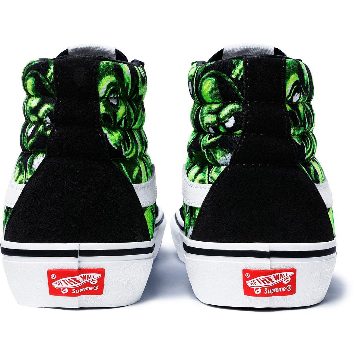 Vans Sk8 Hi Supreme Skull Pile (Green)